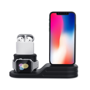 Apple Watch Air Pod and IPhone Combo Charging Station (black) - Wrist Watch Straps