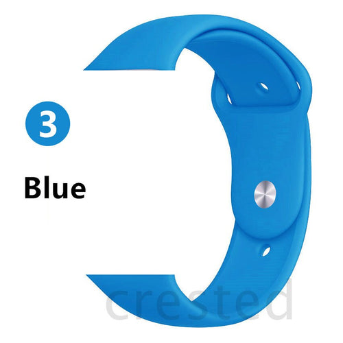 Blue Silicone strap - Wrist Watch Straps