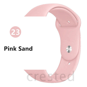 Pink Sand Silicone strap - Wristwatchstraps.co