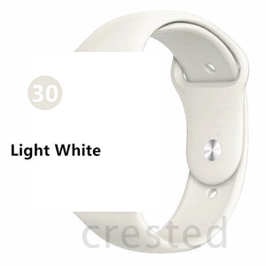 Light White Silicone strap For Apple Watch - Wrist Watch Straps