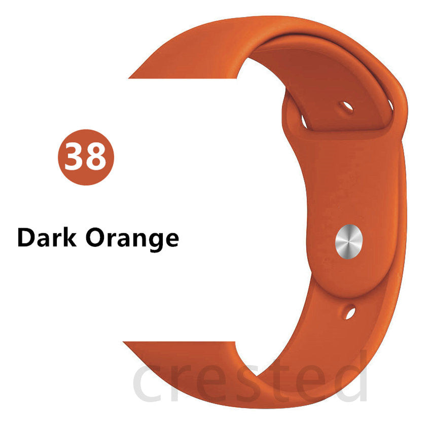 Dark Orange Silicone strap - Wrist Watch Straps