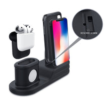 Load image into Gallery viewer, Apple Watch Air Pod and IPhone Combo Charging Station (black) - Wristwatchstraps.co