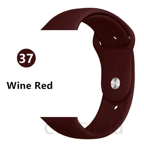 Wine Red Silicone strap - Wristwatchstraps.co