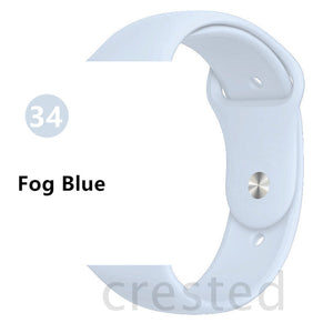 Fog Blue Silicone strap For Apple Watch - Wrist Watch Straps