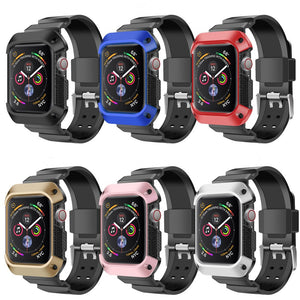 Rugged Shockproof Protective Case with Strap for Apple Watch Military Grade - Wristwatchstraps.co