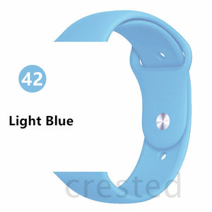 Light Blue Silicone strap For Apple Watch - Wrist Watch Straps