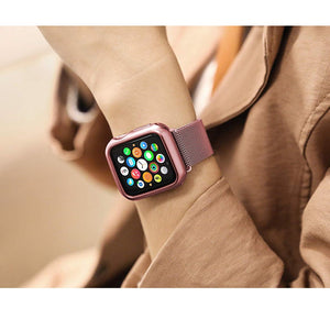 Protective Apple Watch Case in GOLD, SILVER, ROSE - Wrist Watch Straps