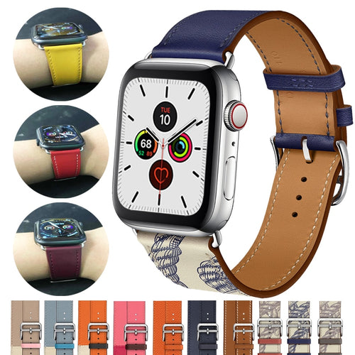 Single Tour Genuine Leather Strap for series 5/4/3/2/1, Hermes, Nike Apple Watches - Wristwatchstraps.co