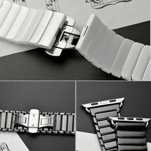 Load image into Gallery viewer, Ceramic Strap with Stainless Steel Butterfly Buckle for Apple Watch - Wrist Watch Straps
