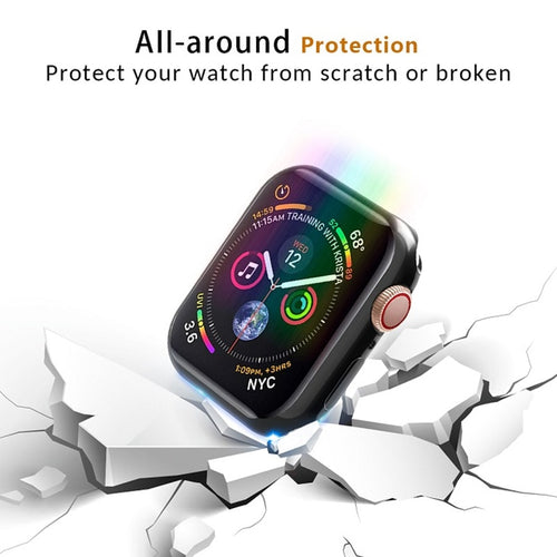 Transparent Bumper Screen Protector for Apple Watch Series - Wrist Watch Straps