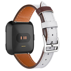 Leather Band for Fitbit Versa - Wrist Watch Straps