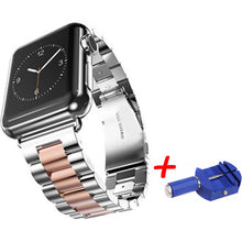Load image into Gallery viewer, Stainless Steel Metal Bands with Folding Clasp and link tool for Apple Watch - Wrist Watch Straps