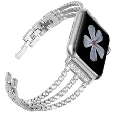 Load image into Gallery viewer, Rhinestone Diamond look Chain Band for Apple Watch Band Stainless Steel - Wrist Watch Straps