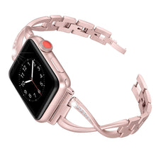 Load image into Gallery viewer, X-Link Apple Watch Stainless Steel Band Metal with Extra Bling Rhinestone - Wristwatchstraps.co