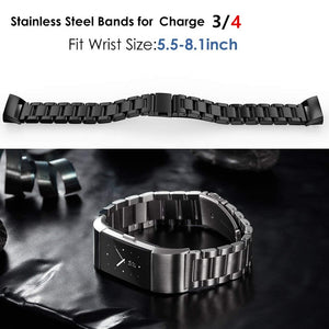 Stainless Steel Link Band for Fitbit charge 3|4 - Wristwatchstraps.co