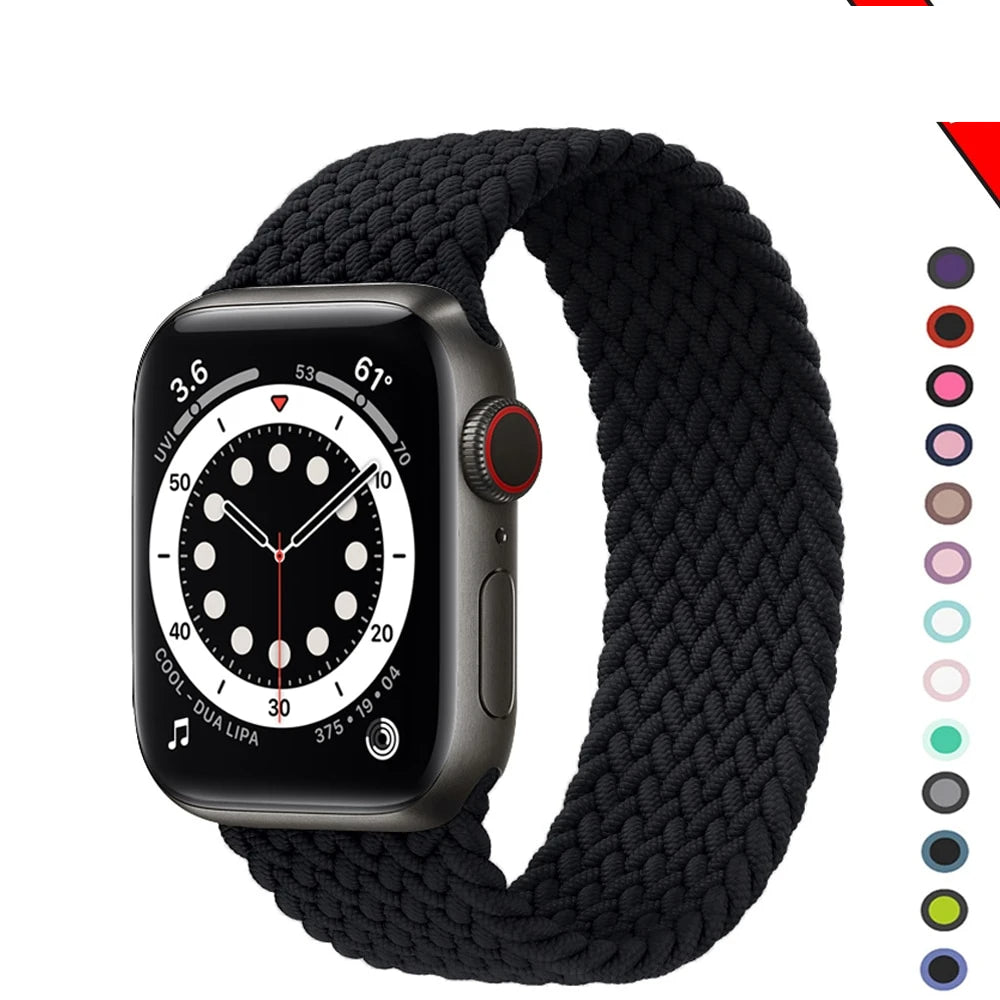 Braided NYLON Loop Strap for Apple Watch