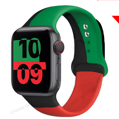 Black Unity Silicone Strap For Apple Watch
