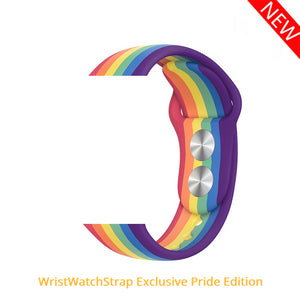 LGBT Pride Edition Silicone Strap for Apple Watch - Wrist Watch Straps