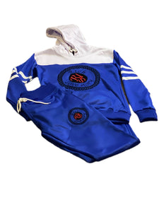 Rich Love $tory Blue Polyester Fleece Track Suit (Unisex)