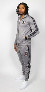 Rich Love $tory Gray Polyester Fleece Track Suit (Men)