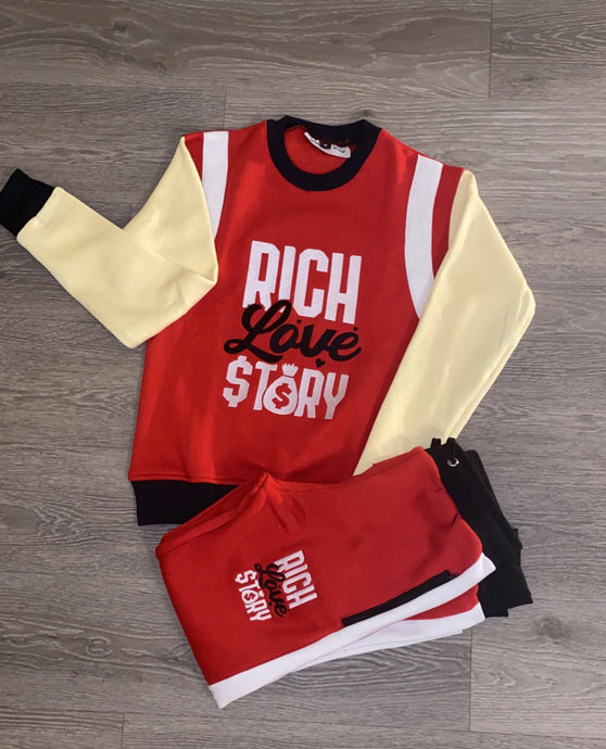 Rich Love $tory Track Suits Red (Unisex )