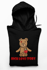 Unisex Pullover Rich Love $tory Bear Hoodie