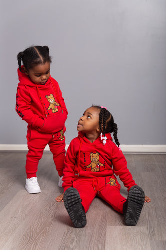 Rich Love $tory Bear Toddlers Tracksuits Red (Unisex)