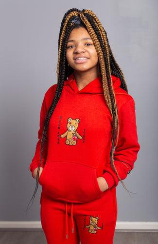 Rich Love $tory Bear Youths Tracksuits Red (Unisex)