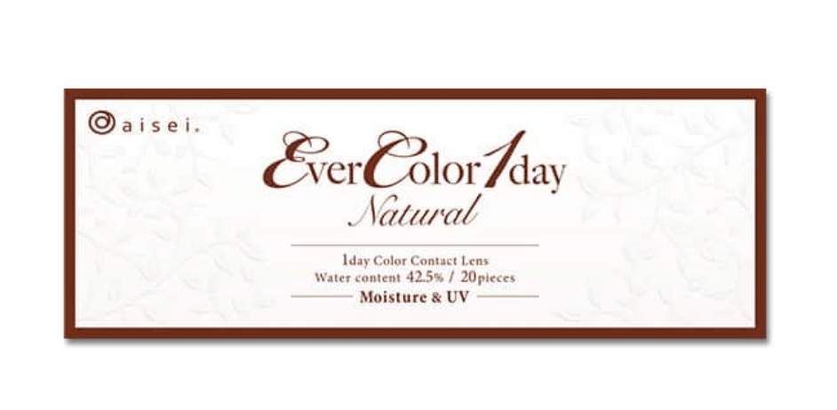 mimibuy.com 美瞳 EverColor1day Natural42.5UV 棕色ApricotBrown日抛20片装
