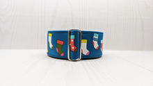Load image into Gallery viewer, Claus Christmas Stocking Martingale Dog Collar