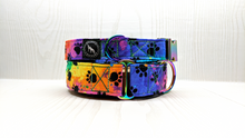 Load image into Gallery viewer, Cosmo Rainbow Neochrome dog collar