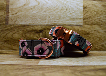 Load image into Gallery viewer, Zinnia Rose Gold Floral Dog Collar