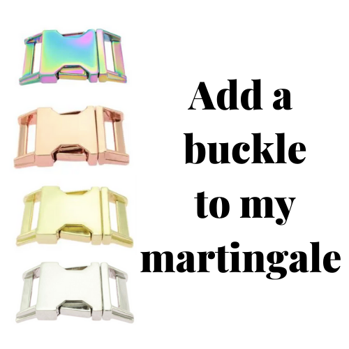 Add a buckle to any martingale