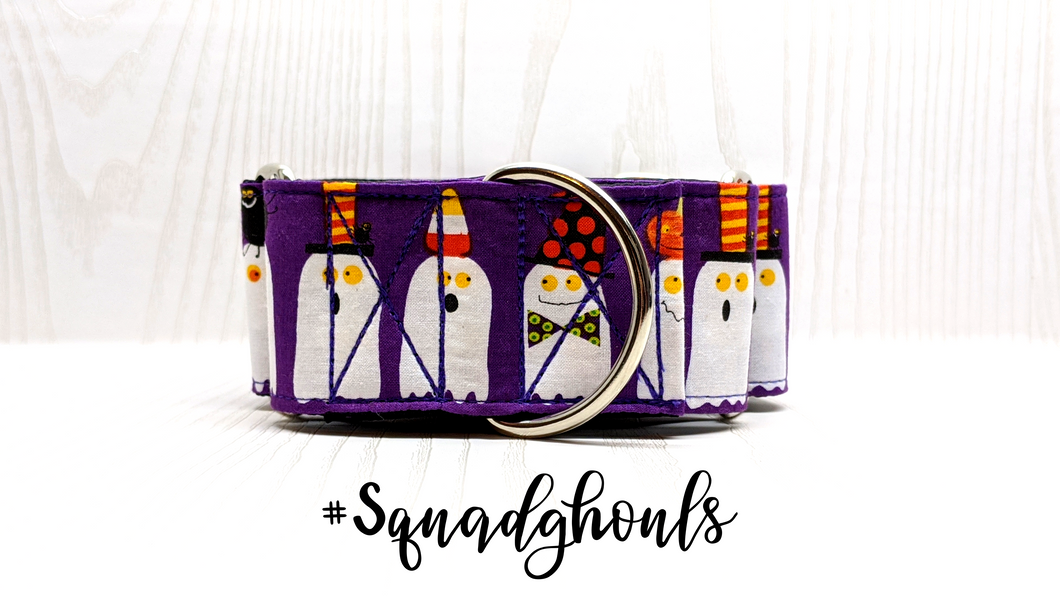 Squad Ghouls Halloween Martingale Collar