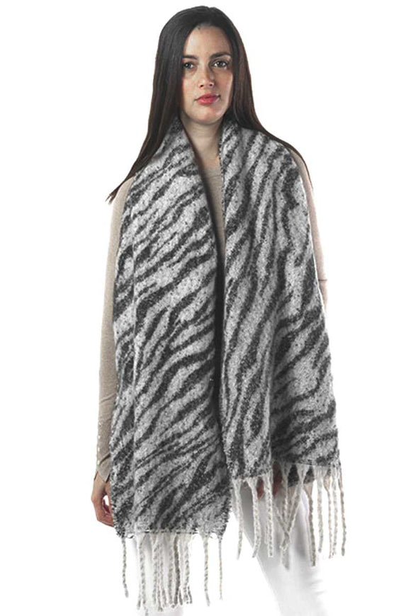 Zebra Print Oblong Scarf - Mother Filter LLC