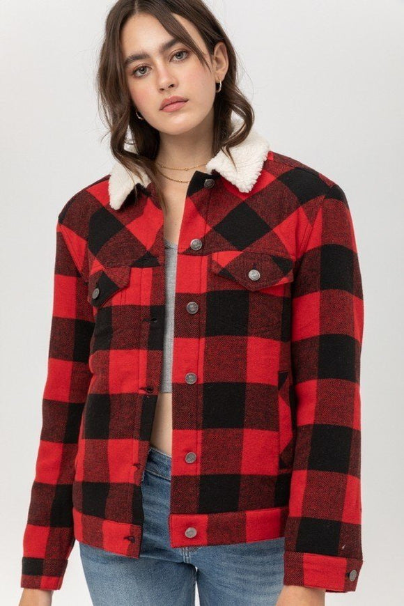 Woven Yarn Dye Plaid Jacket