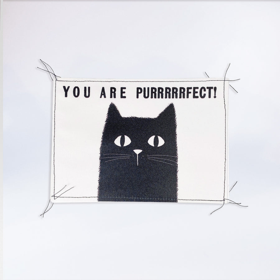 "Genähte Postkarte ""You are PURRRRRFECT!"""