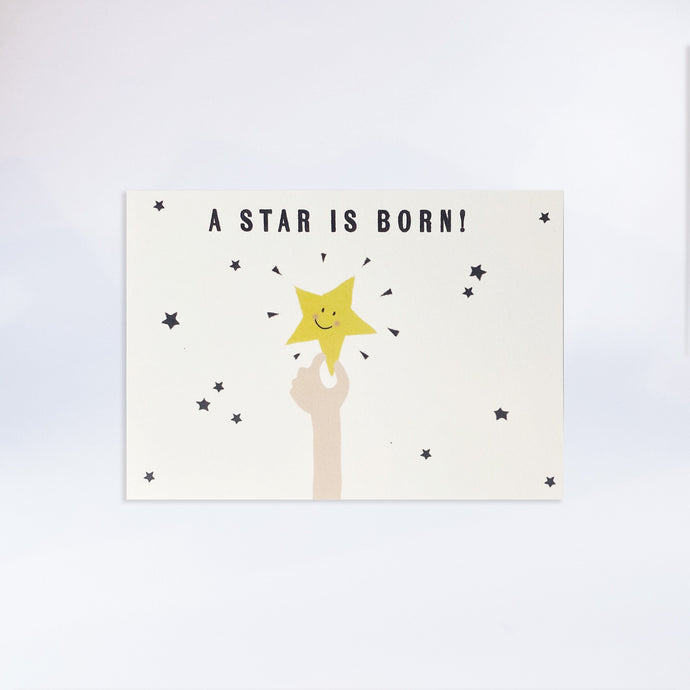 "Postkarte ""A star is born!"""