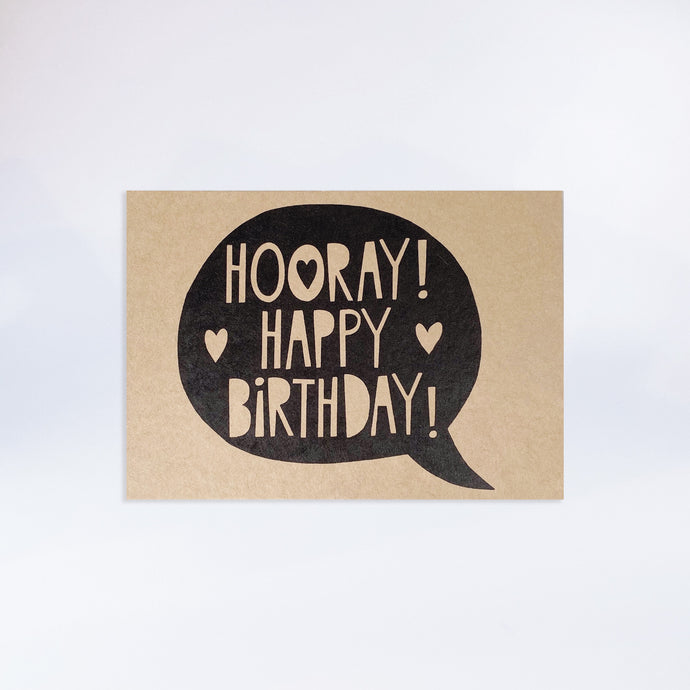 "Individuelle Postkarte mit Design ""Hooray Happy Birthday"""