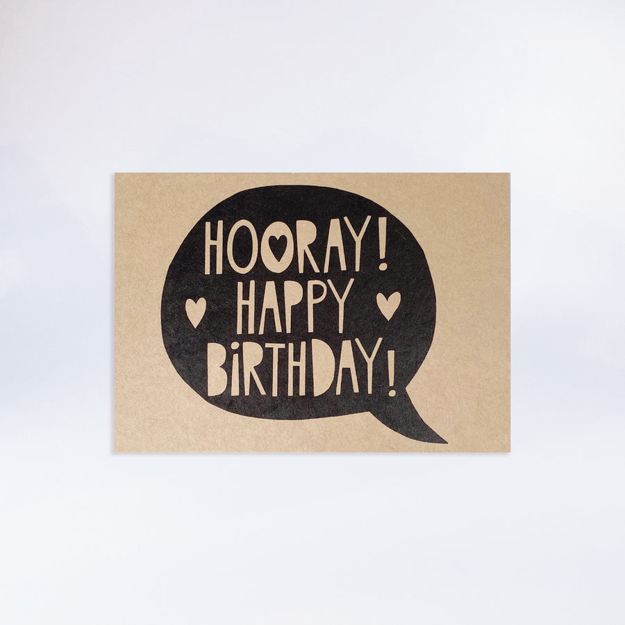 "Postkarte ""Hooray Happy Birthday"""