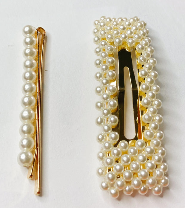 2-pc. Oversized Pearl Hair Clip