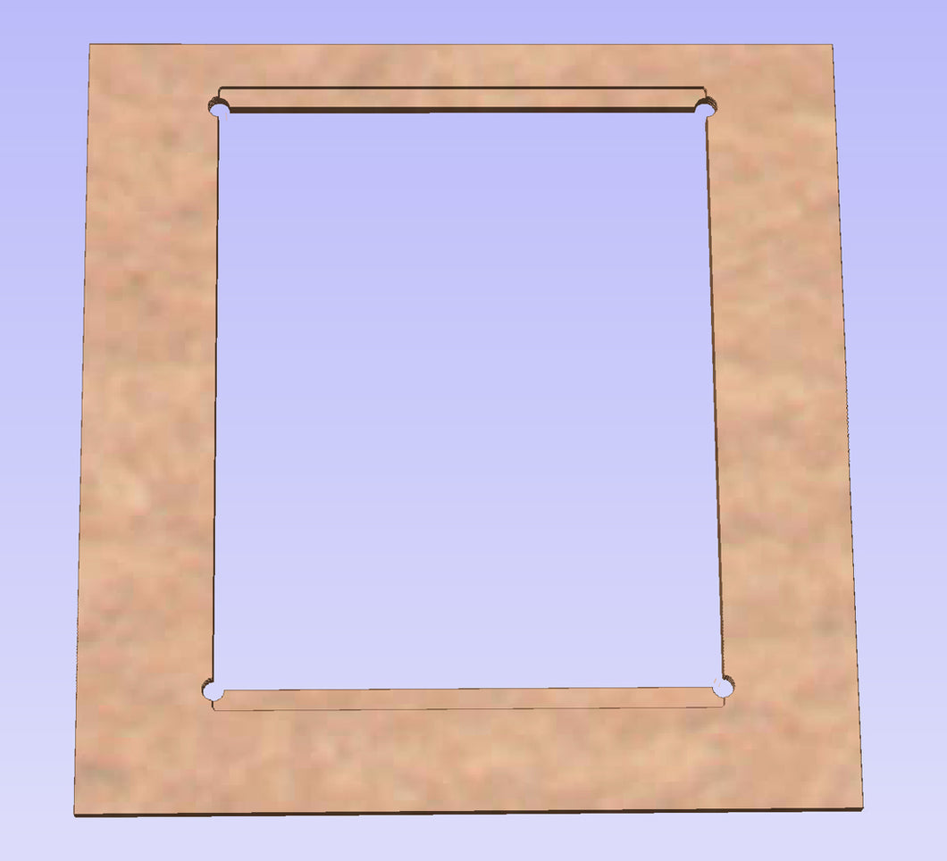 Horizontal to Vertical Monitor Bezel for 1UP Cabinets