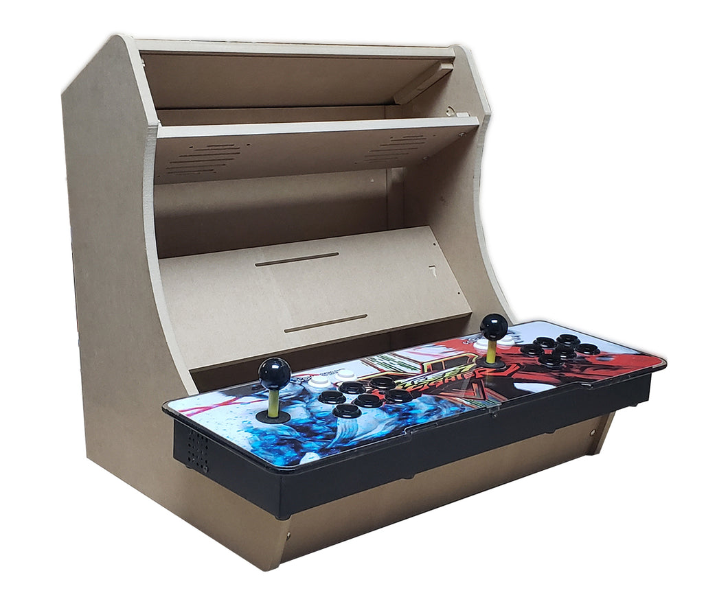 LVL23P2 Easy to Assemble Pandora's Box bartop / tabletop arcade cabinet DIY kit w/ marquee holder