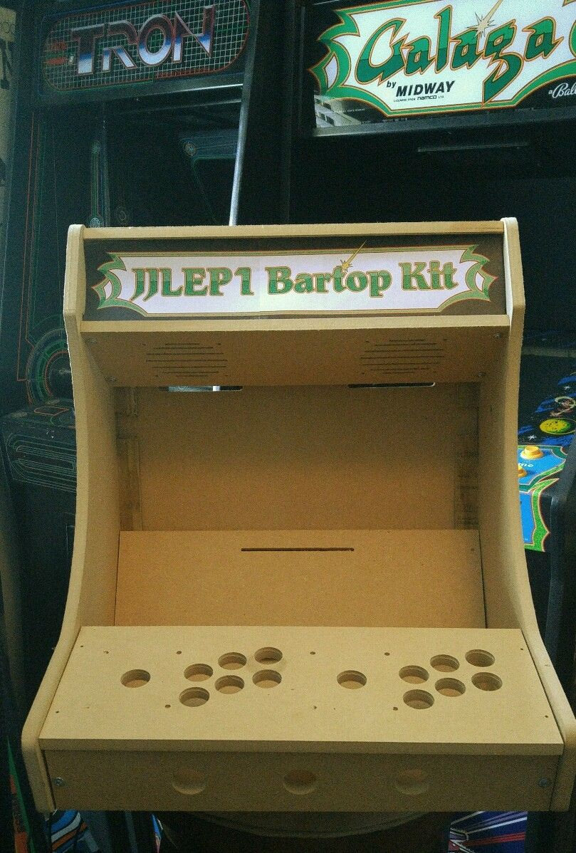 LVL19 1 or 2 Player Bartop Arcade Cabinet Kit for 15