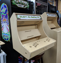 "Load image into Gallery viewer, LVL23 2 Player Bartop Arcade Cabinet Kit for 19"" to 23"" Screens (HAPP or SANWA)"