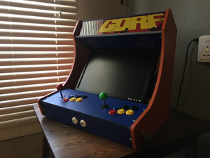 "LVL23 2 Player Bartop Arcade Cabinet Kit for 19"" to 23"" Screens (HAPP or SANWA)"