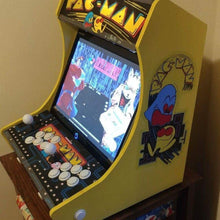 "Load image into Gallery viewer, LVL19 1 or 2 Player Bartop Arcade Cabinet Kit for 15"" to 19"" Screens (HAPP Only)"