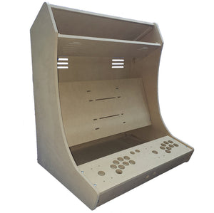 "LVL27 2 Player Bartop Arcade Cabinet Kit for 23"" to 27"" screens(HAPP or SANWA)"