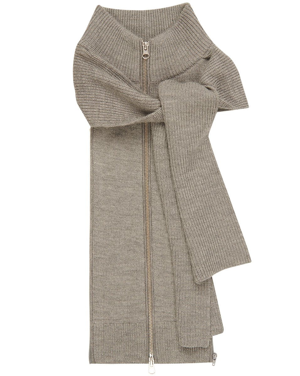 Veronica Beard Nassau Scarf Dickey in Grey Melange