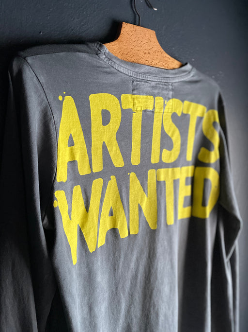 Free City Artists Wanted  Super-vintage Long Sleeve Tee in Grayart Sunfade